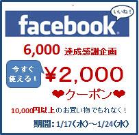 fb「いいね!」6000謝恩企画